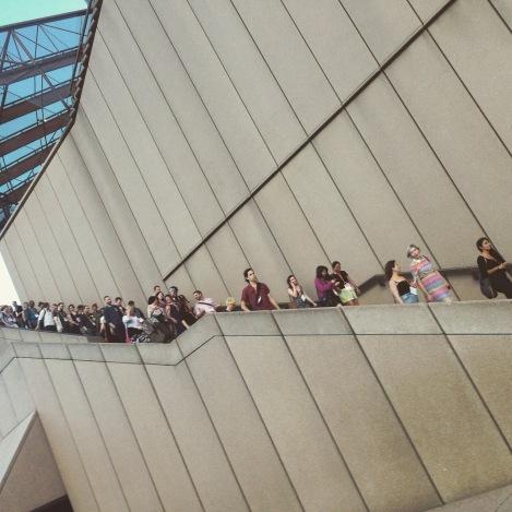 ATF delegates leaving the Sydney Opera House